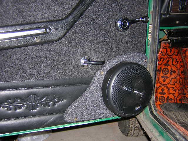 Как сделать подиумы для динамиков дверей машины